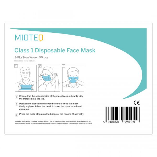 Mioteq Face Mask Label