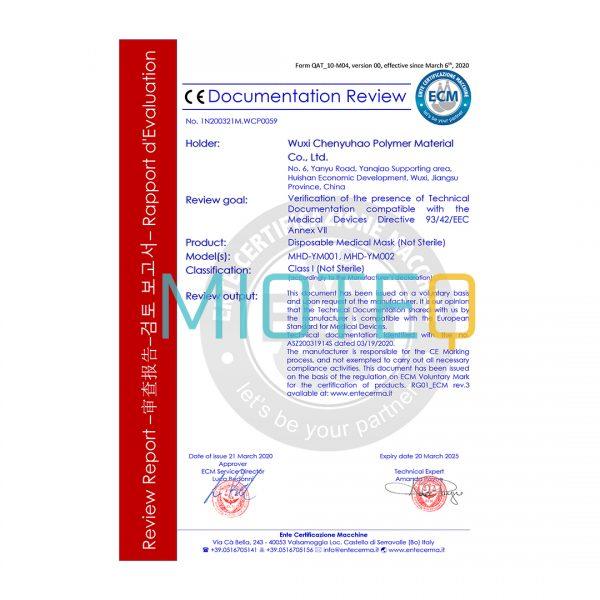 Mioteq Face Shield CE Certificate